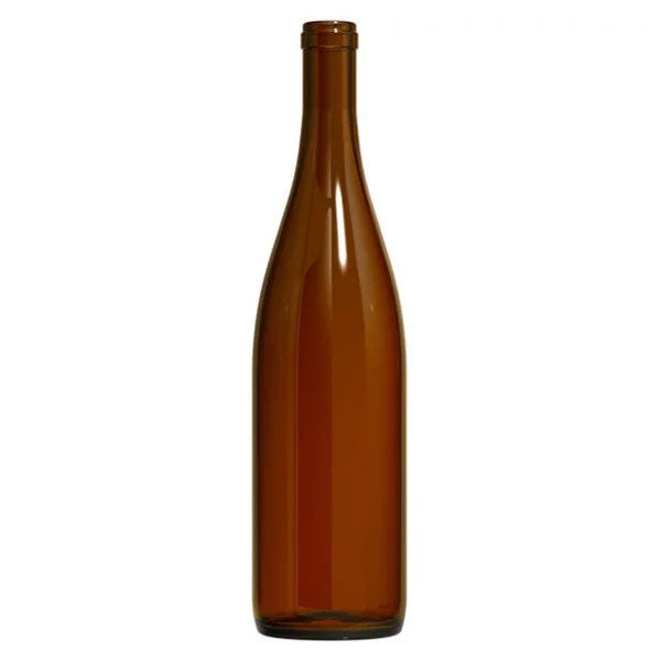Amber (Brown) - Hock Style Wine Bottles - 12 per Case