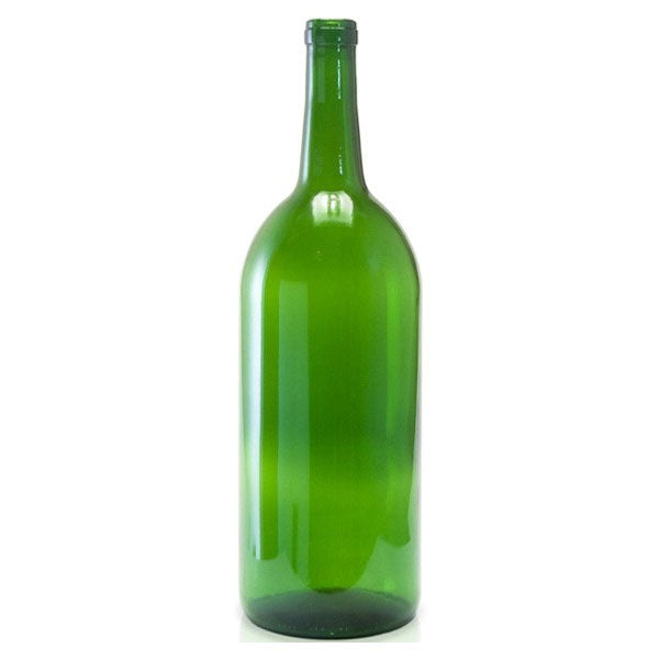Bordeaux Style Wine Bottles - 1.5l - Green - 6 per Case