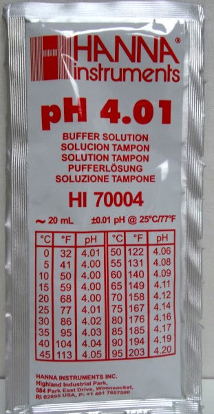 Ph Meter Buffer Solution 4.01 20ml Hi70004