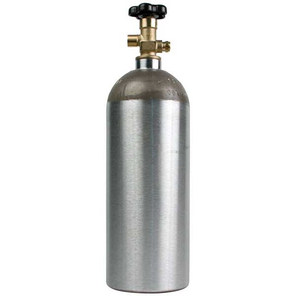Co2 Cylinder - Brand New - 5 Lb. Capacity - Empty - Aluminum