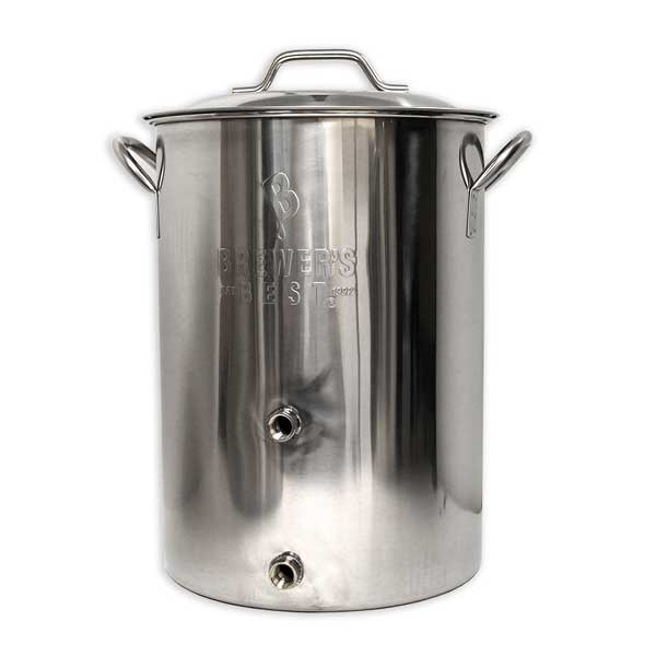 Brewers Best Basic 8 Gallon Brewing Kettle with Ports
