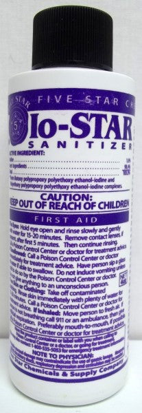 Io-Star (B-T-F) Iodophor Sanitizer - 4 oz
