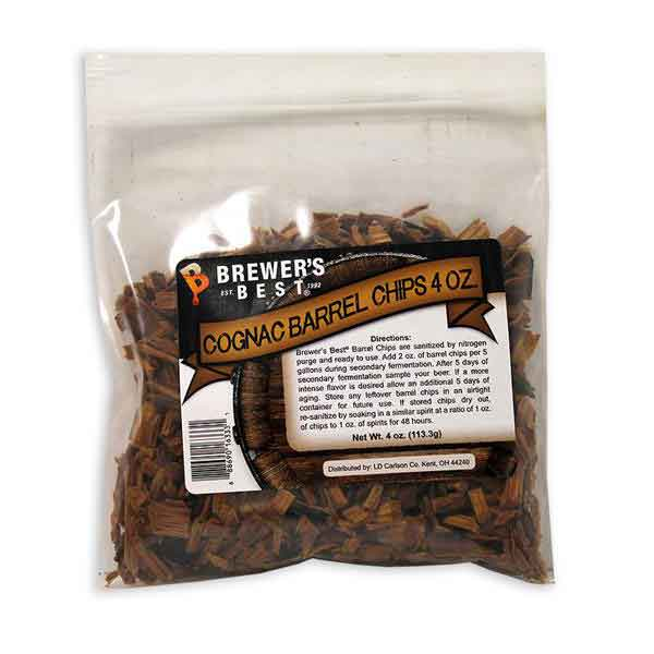 Brewers Best Cognac Barrel Oak Chips - 4 oz