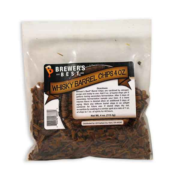 Brewers Best Whisky Barrel Oak Chips - 4 oz