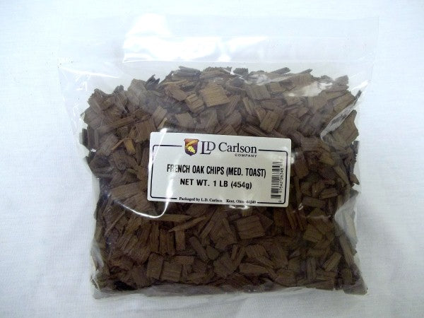 French Oak Chips - Medium Toast - 1 Lb. Bag