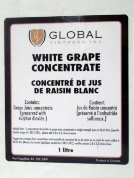 White Grape Concentrate - 1 Liter Package