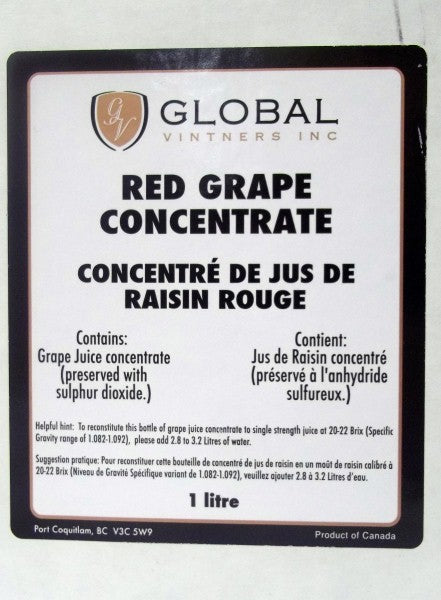 Red Grape Concentrate - 1 Liter Package