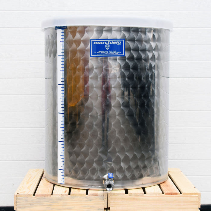 100 Liter Stainless Steel Kombucha Tank with Dust Cover and Stainless Steel Ball Valve