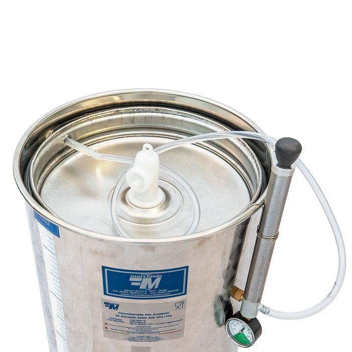 Marchisio 50 Liter Variable Capacity Stainless Steel Tank with Floating Lid