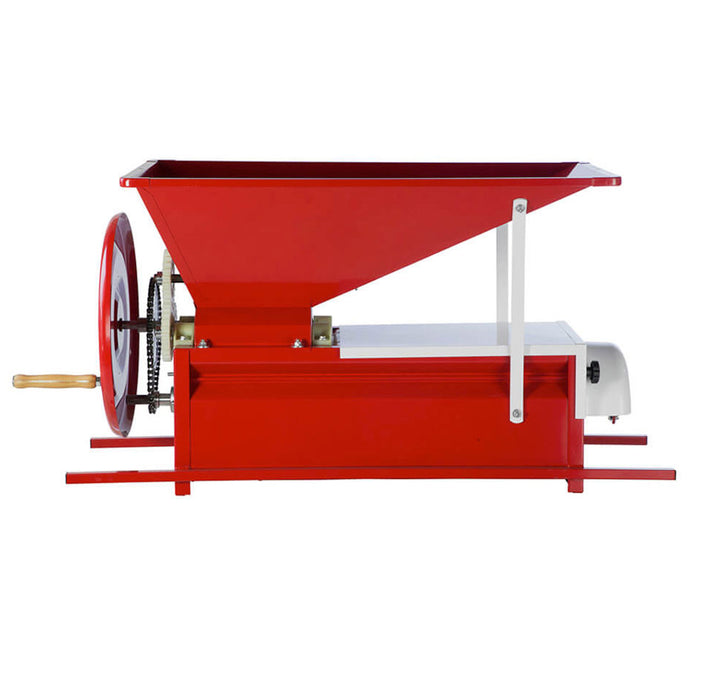 Manual Grape Crusher Destemmer with Painted Hopper