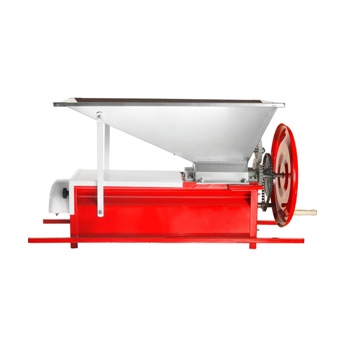 Manual Grape Crusher Destemmer with Stainless Steel Hopper and Large Fly Wheel