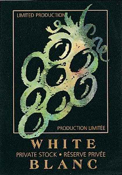 White Grape Wine Bottle Labels - Surreal - 30 per Package