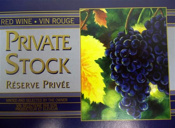 Grape Wine Bottle Labels - Wide - 30 per Package
