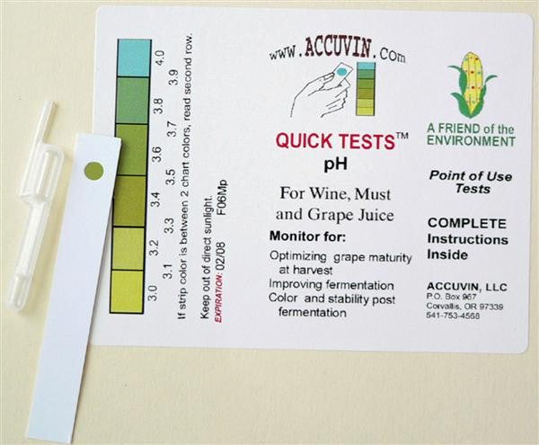 Accuvin Quick Tests - Ph - 10 Tests