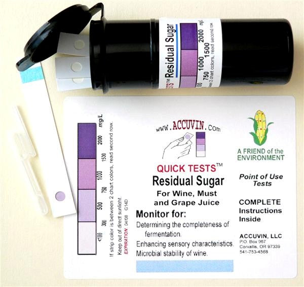 Accuvin Quick Tests - Residual Sugar - 10 Tests