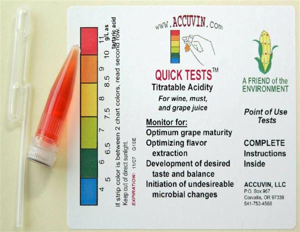 Accuvin Quick Tests - Titratable Acid - 10 Tests