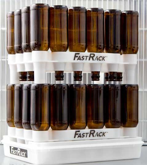 FastRack Starter Kit for Beer Bottles - 2 Racks and 1 Tray