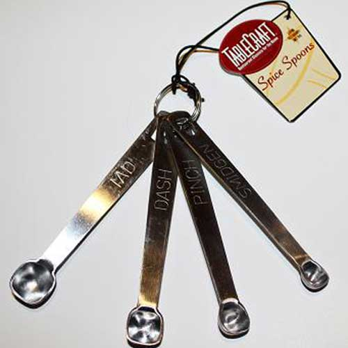 Stainless Steel Measuring Spoons for Cheese Making