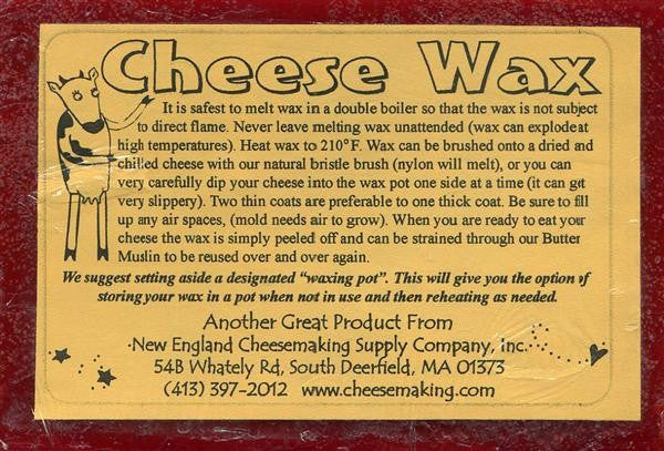 Red Cheese Wax - 1 Lb. - Reusable