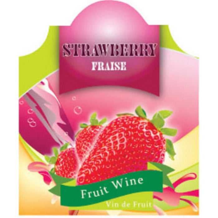 Strawberry Wine Labels - 30 Per Package