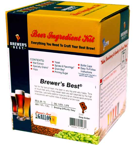 Complete One Gallon Beer Making Kit Includes Equipment - Ingredients - Bottles