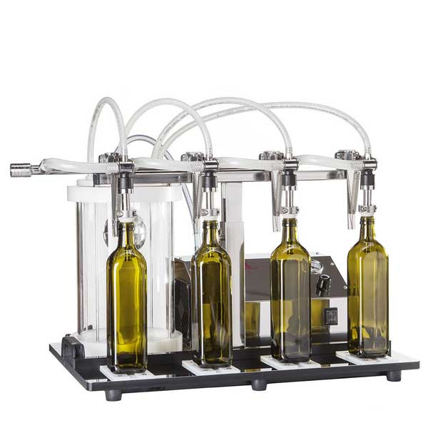 Enolmaster 4 Head Vacuum Bottle Filler - Olive Oil | Liquors | Balsamic Vinegar | High Viscosity