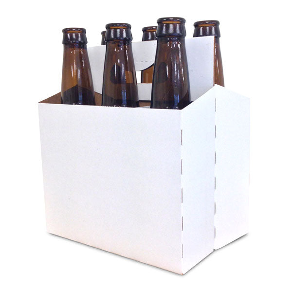 Beer Bottle Carrier - 6 Pack - White Coated