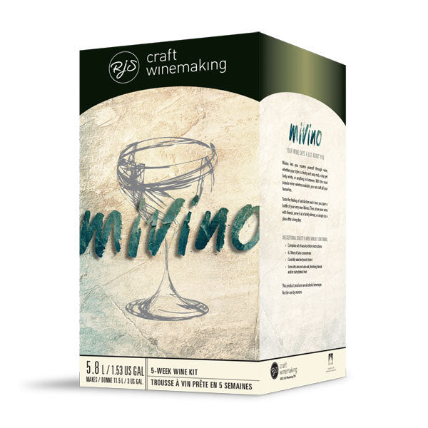 Mivino Chilean Malbec  Three Gallon Wine Kit - Make By Itself or Blend with Other MiVino Kits