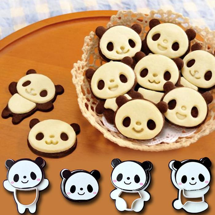 DIY Bake Flexible Silicone Mold Panda Shaped 3D Cookie