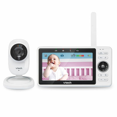 VTech | HD Monitor - Safe and Sound Wi-Fi 1080p HD Video Baby Monitor With Remote Access