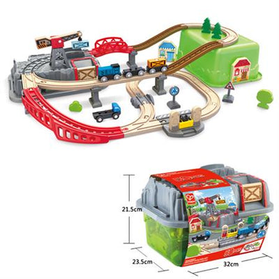 Hape | Railway Bucket Builder Set