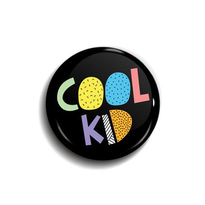 Cool Kid Button Badge