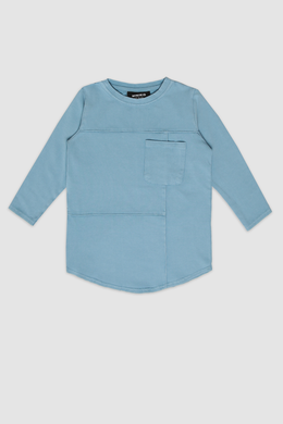 Deconstructed Blue Long Sleeve Tee