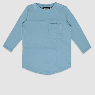 MiniKid | Deconstructed Blue Long Sleeve Tee