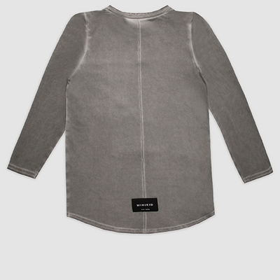 MiniKid | Deconstructed Grey Long Sleeve Tee