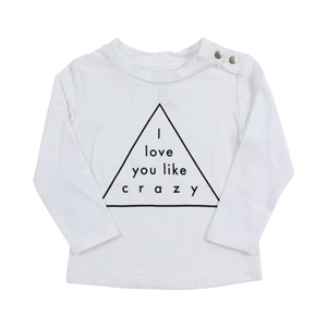 Tiny Tribe Love You Like Tee White