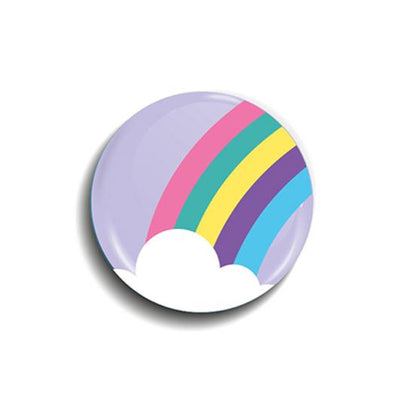 Rainbow Button Badge