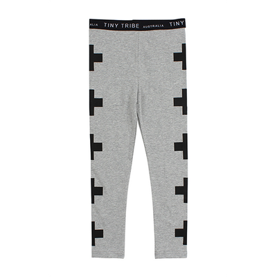 Tiny Tribe Cross Leggings