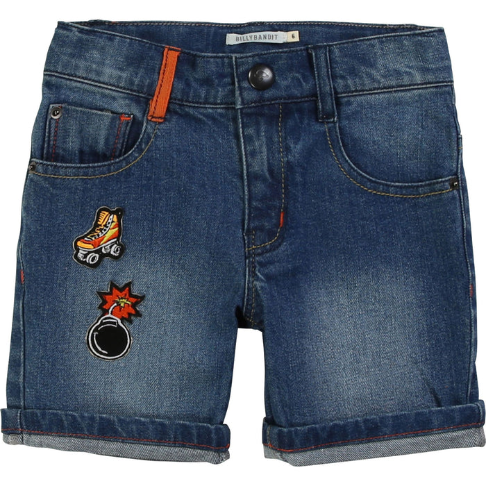 Fancy  Badge Denim Short