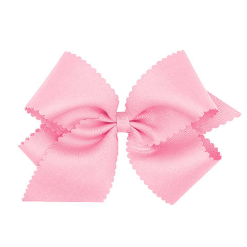 Wee Ones Scallop Bow-King (Multiple Colors)