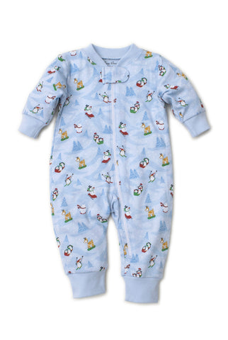 Kissy Kissy Frost Friends Blue Zip Pajamas
