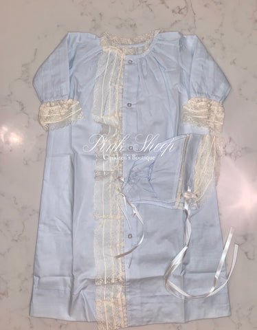 Baby Sen Blue Heirloom Gown Set