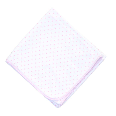 Magnolia Baby Essentials Gingham Dots Blanket-Pink