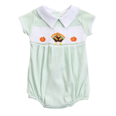 Magnolia Baby Lil Turkey Classics Smocked Boys Bubble-6m, 9m, 12m, 24m
