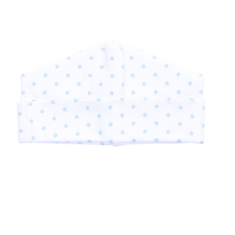 Magnolia Baby Essentials Blue Gingham Dots Hat