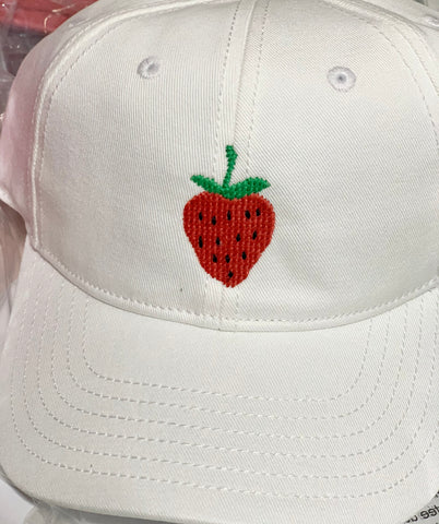 Harding Lane White Strawberry Hat