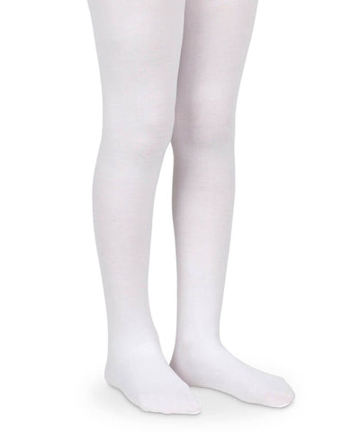 Jefferies Socks Organic Cotton Smooth Toe Tights (Pink, White)