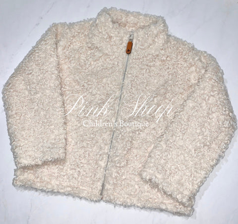 South Bound Oatmeal Full Zip Sherpa Pullover