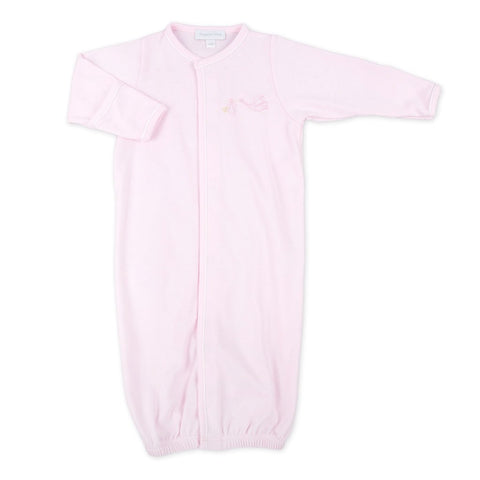 Magnolia Baby Essentials Worth The Wait Embroidered Converter Gown-Pink