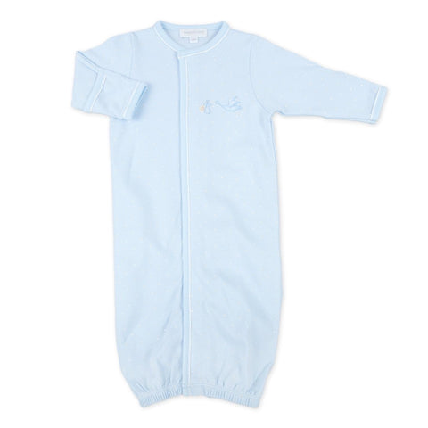 Magnolia Baby Essentials Worth The Wait Embroidered Converter Gown-Blue